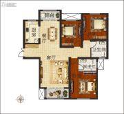 佳合如苑3室2厅2卫140平方米户型图