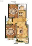 雍雅锦江2室2厅1卫88平方米户型图