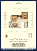 恒立南岳大院2室1厅1卫0平方米户型图