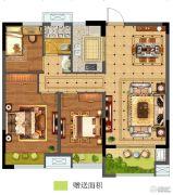 碧桂园仙林东郡3室2厅1卫95平方米户型图