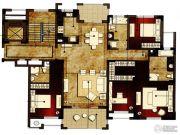 洛城中央御景3室2厅3卫170平方米户型图
