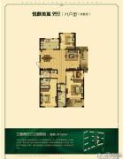 悦麒美寓3室2厅3卫0平方米户型图