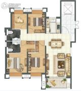 金科城4室2厅2卫144平方米户型图
