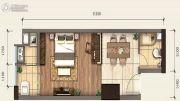 新阳光广场1室1厅1卫38平方米户型图