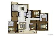 地产尚海郦景4室2厅3卫190平方米户型图