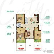 昂展公园里3室2厅2卫146平方米户型图