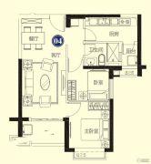 恒大名都2室2厅1卫78--79平方米户型图