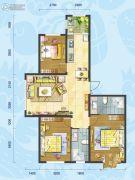 理想04513室2厅1卫0平方米户型图