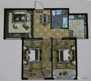 大成门2室2厅1卫85平方米户型图