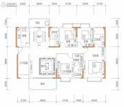 保华铂郡4室2厅3卫172平方米户型图
