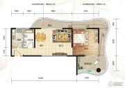 大都金沙湾1室1厅1卫80平方米户型图