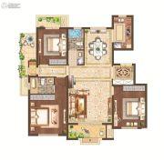 月桥花院3室2厅2卫123平方米户型图