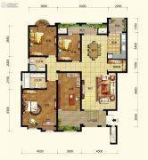 中交锦湾一期4室2厅2卫161平方米户型图