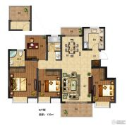 电建�吃酶�4室2厅2卫120平方米户型图