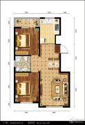 都市邻里2室1厅1卫90--92平方米户型图