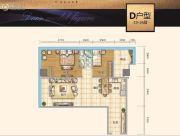 时代中心2室2厅1卫109平方米户型图