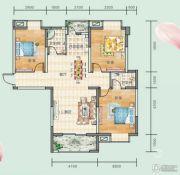 连山鼎府3室2厅1卫118平方米户型图