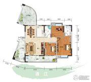 长阳清江山水・最山水3室2厅2卫161平方米户型图