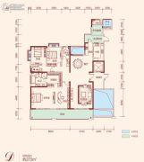 中建江山壹号3室2厅2卫272平方米户型图