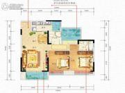 国瑞爱与山3室2厅2卫0平方米户型图