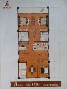 祥瑞汽车城4室2厅2卫150平方米户型图