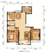 江山花园3室2厅2卫127平方米户型图