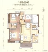 奥园外滩4室2厅2卫98平方米户型图