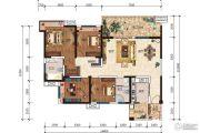 五和城南新天地4室2厅2卫169平方米户型图