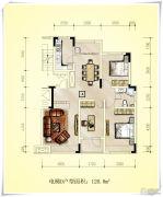 辽河左岸3室2厅1卫120平方米户型图