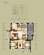 凯旋帝景4室2厅2卫119平方米户型图