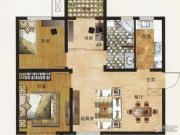 中国铁建国际城3室2厅1卫89平方米户型图