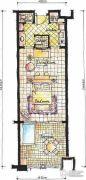 东和福湾1室1厅1卫42平方米户型图