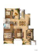 佳兆业城市广场3室2厅2卫0平方米户型图