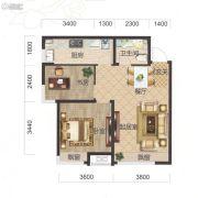 保利・茉莉公馆2室2厅1卫76平方米户型图