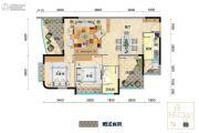 米兰天空3室2厅2卫0平方米户型图