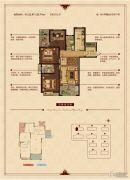 华锦锦园3室2厅2卫122--125平方米户型图