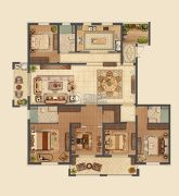 信拓东港国际5室2厅3卫141平方米户型图