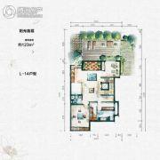 大汉汉园123平方米户型图