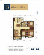 呼和浩特富力城3室2厅1卫110平方米户型图