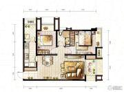 万科城2室2厅0卫66平方米户型图