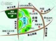 奥园・一号湖畔交通图