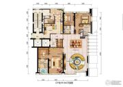 仁恒滨海中心2室2厅3卫0平方米户型图