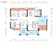 鑫月城3室2厅2卫111平方米户型图