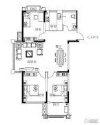 鼓浪屿小镇3室2厅1卫111平方米户型图