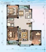 华海・蓝境3室2厅1卫99平方米户型图
