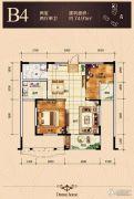 隆成城市之星2室2厅1卫0平方米户型图