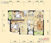 元森北新时代3室2厅1卫103平方米户型图
