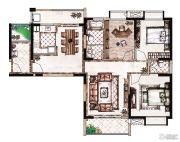 蓝惠首府2室2厅1卫116平方米户型图