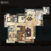嘉汇城4室2厅2卫176平方米户型图