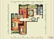 宏利大厦3室2厅1卫128平方米户型图